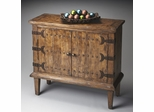 Butler Mountain Lodge Whale-tail Hardware Console Cabinet