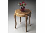 Butler Natural Wood Classic Cabriole Design Side Table