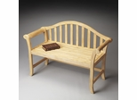 Butler Natural Wood Traditional Style Bench