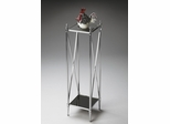Butler Nickel Double-Decker Pedestal Plant Stand with Ballerina Feet