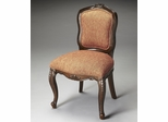 Butler Nutmeg Coral Textured Woven Fabric Side Chair