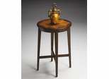 Butler Nutmeg Inlay Wood Modern Accent Table