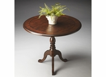 Butler Nutmeg Plank-effect Top Drop-Leaf Accent Table