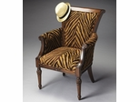 Butler Nutmeg Tan Zebra Pattern Accent Chair