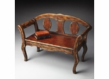 Butler Old World Artisan Tobacco Leaf Bench