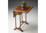 Butler Olive Ash Burl Asian Flair Drop-Leaf Table