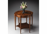 Butler Olive Ash Burl Classic Old World Starburst Accent Table