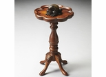 Butler Olive Ash Burl Scallop Edge Top Scatter Table