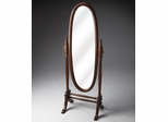 Butler Plantation Cherry Cheval Mirror with Swivel-tilt Design