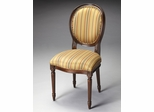 Butler Plantation Cherry Red Stripe Side Chair