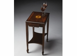 Butler Plantation Cherry Relaxed Traditional Pull Tray Side Table