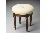 Butler Plantation Cherry Single Button Fabric Tufted Vanity Stool