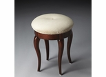 Butler Plantation Cherry Tufted Cushion Vanity Stool