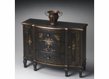 Butler Regal Black Console Cabinet with Three Dovetailed Drawers