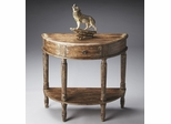 Butler River Walk Demilune Console Table with Fluted Carved Legs