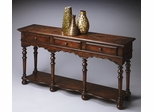 Butler Saddle Brown Moroccan-inspired Console Table