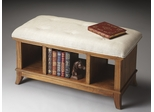 Butler Sandy Shore Cushion Top Three Compartment Storage Bench