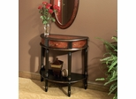 Butler Specialty Demilune Console Table Imperial Red Hand Painted