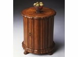 Butler Specialty Drum Table Vintage Oak Finish