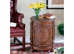 Butler Specialty Hand Painted Drum Table in Alligator