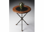 Butler Specialty Metalworks Accent Table in Black Fossil Stone