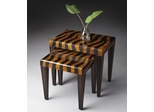 Butler Specialty Nesting Tables Tiger Stripe Penn Shell Loft Finish