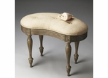 Butler Toasted Barley Kidney-Shaped Vanity Stool