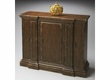 Butler Tobacco Leaf Aged Antique Pier Columns Door Chest
