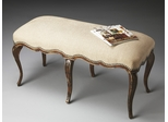 Butler Tobacco Leaf Queen Anne-style Bench