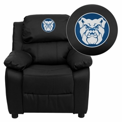 Butler University Bulldogs Embroidered Black Leather Kids Recliner - BT-7985-KID-BK-LEA-41011-EMB-GG
