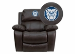 Butler University Bulldogs Leather Rocker Recliner - MEN-DA3439-91-BRN-41011-EMB-GG