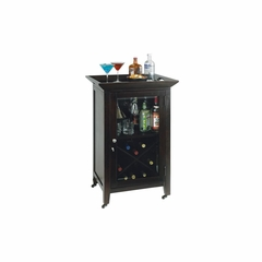 Butler Wine and Bar Cabinet in Black Coffee - Howard Miller