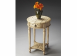 Butler Winter Forest Hand-painted Accent Table