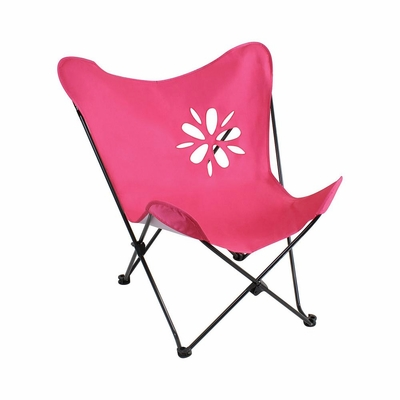 Butterfly Chair Hot Pink with Flower Cutout - Lumisource