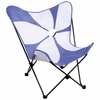 Butterfly Chair Purple with White Flower - LumiSource - CHR-BFFWR-PR-W0