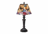 Butterfly /Peony Tiffany Table Lamp - Dale Tiffany