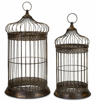 Byzantine Dome Bird Cages (Set of 2) - IMAX - 47126-2