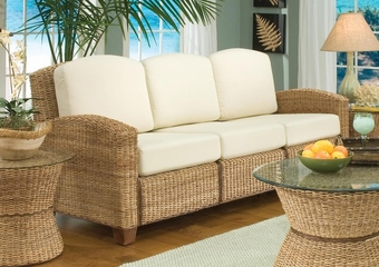 Cabana Banana 3 Section Sofa in Honey - Home Styles - 5401-61