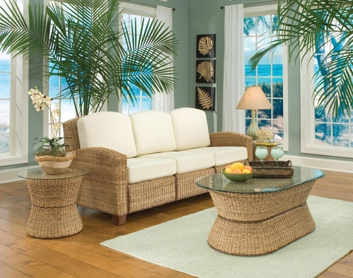 Cabana Banana 3 Section Sofa Set in Honey - Home Styles - 5401-61-SET-1