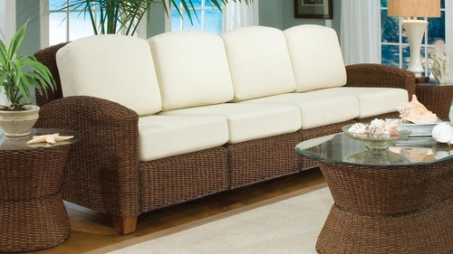 Cabana Banana 4 Section Sofa in Cocoa - Home Styles - 5402-63