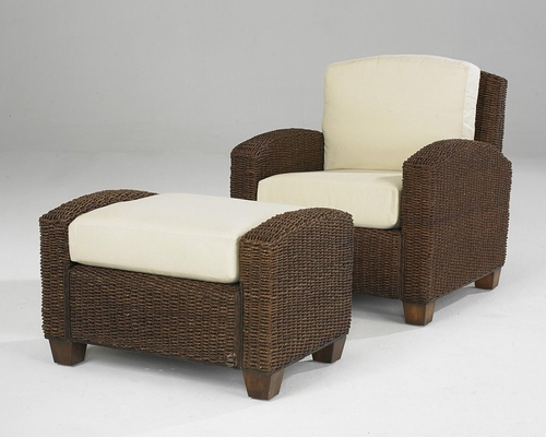 Cabana Banana Chair with Ottoman in Cocoa - Home Styles - 5402-100