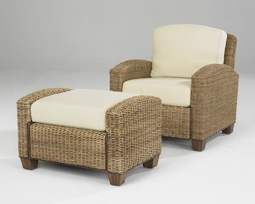 Cabana Banana Chair with Ottoman in Honey - Home Styles - 5401-100