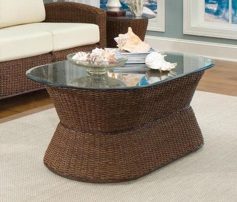 Cabana Banana Cocktail Table in Cocoa - Home Styles - 5402-22