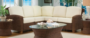 Cabana Banana L-Shape Sectional Sofa in Cocoa - Home Styles - 5402-62