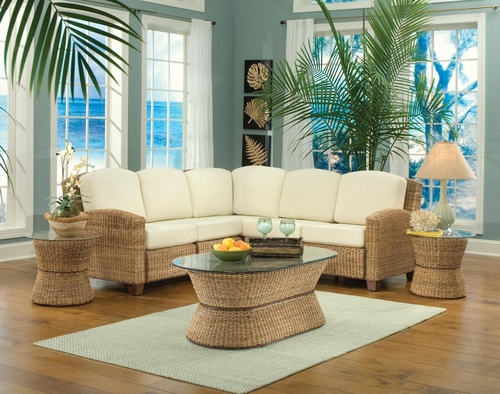 Cabana Banana L-Shape Sectional Sofa Set in Honey - Home Styles - 5401-62-SET-1