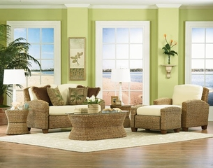 Cabana Banana Love Seat Set 1 in Honey - Home Styles - 5401-200-SET-1