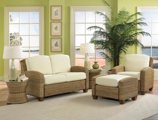 Cabana Banana Love Seat Set 2 in Honey - Home Styles - 5401-200-SET-2