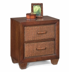 Cabana Banana Night Stand / Side Table in Cocoa - Home Styles - 5402-42