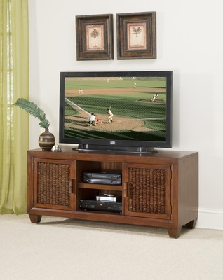 Cabana Banana TV Console in Cocoa - Home Styles - 5402-12
