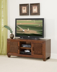 Cabana Banana TV Console with Two Piers in Cocoa - Home Styles - 5402-34